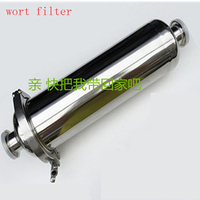 Long 375mm Tri Clamp Inline Strainer With 51mm Body 304 Stainless Steel