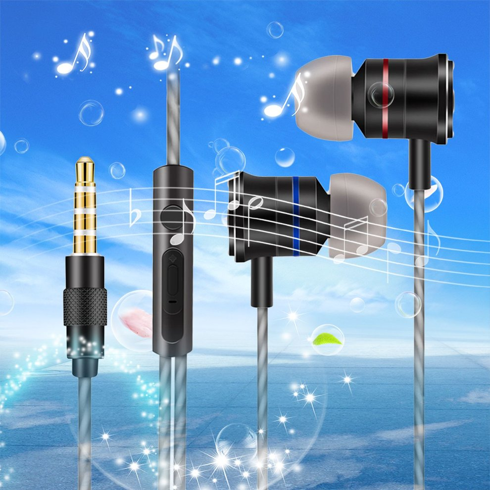 10PCS Metal Earphone 3.5mm Interface In Ear Mobile Wired Headset Subwoofer with Microphone MP3 Earhook X200 remax rm502 wired clear stereo earphones with hd microphone angle in ear earphone noise isolating earhuds for mp3 iphone xiaomi