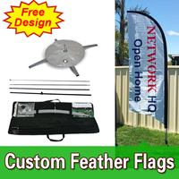 free design free shipping double sided cross base feather flags,beach flag banners