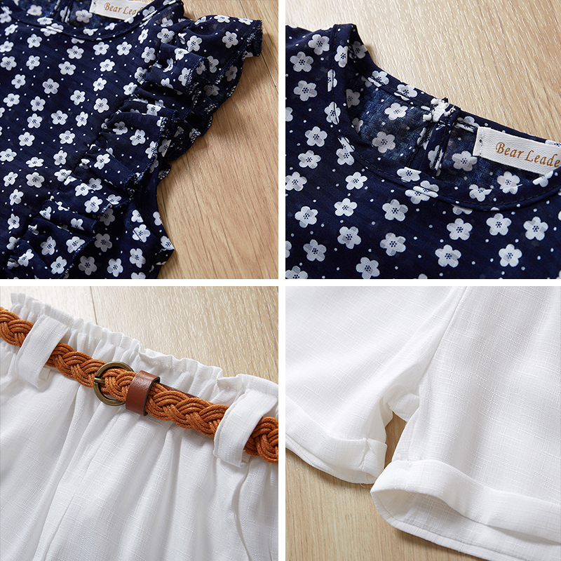 HTB16ar7L9zqK1RjSZPcq6zTepXay Menoea Girls Suits 2020 Summer Style Kids Beautiful Floral Flower Sleeve Children O-neck Clothing Shorts Suit 2Pcs Clothes