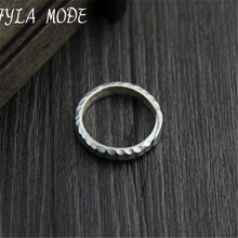 цена Handmade 999 Silver Ring Pure Thai Silver Finger Ring Adjustable Open Ring For Men Women онлайн в 2017 году