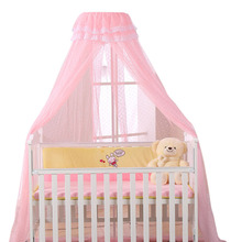 Baby Bed Mosquito Net Playpens Bassinets Crib Netting Round Dome Infant Cribs Bed Canopy Durable Mosquito Net Holder 4 Colors