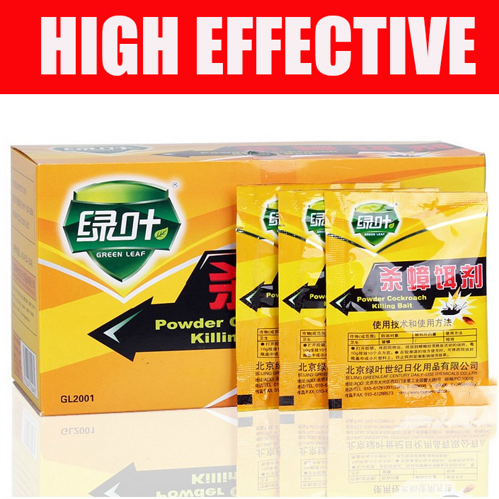 2017 New High Effectiv5pcs New 5 Bags Very Medicine Very Clear Cockroach Killer German Cockroach Powder HH16225A