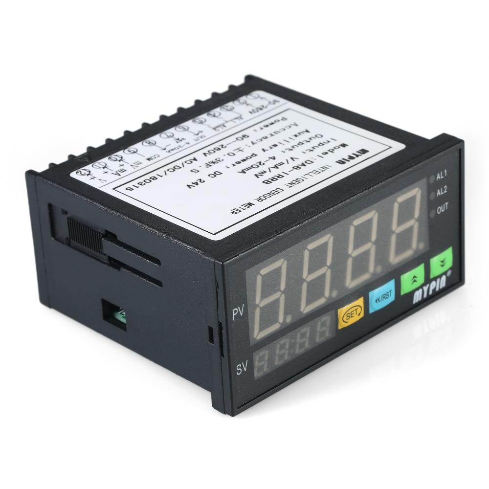 Multi functional Alarm Sensor Digital LED Display Sensor Meter with 2 Relay Alarm Output and 0