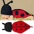 Retail Baby Ladybug Hat&Cape Set Crochet Baby Photo Props Infant Costume Outfits Newborn Crochet Beanies Hats MZS-14001