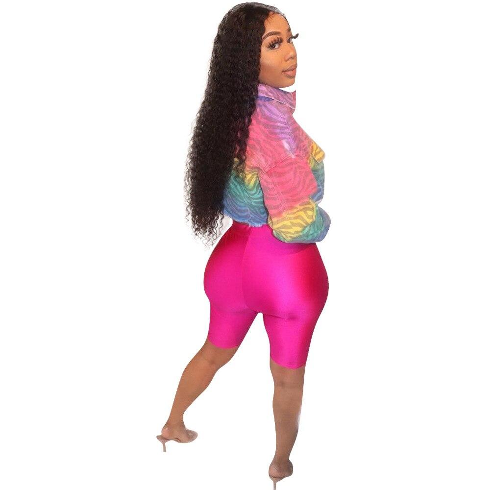 STYLISH LADY Tie Dye Gradient Print Crop Jacket 2019 Women Summer Long Sleeve Button Striped Short Streetwear Tops Jackets