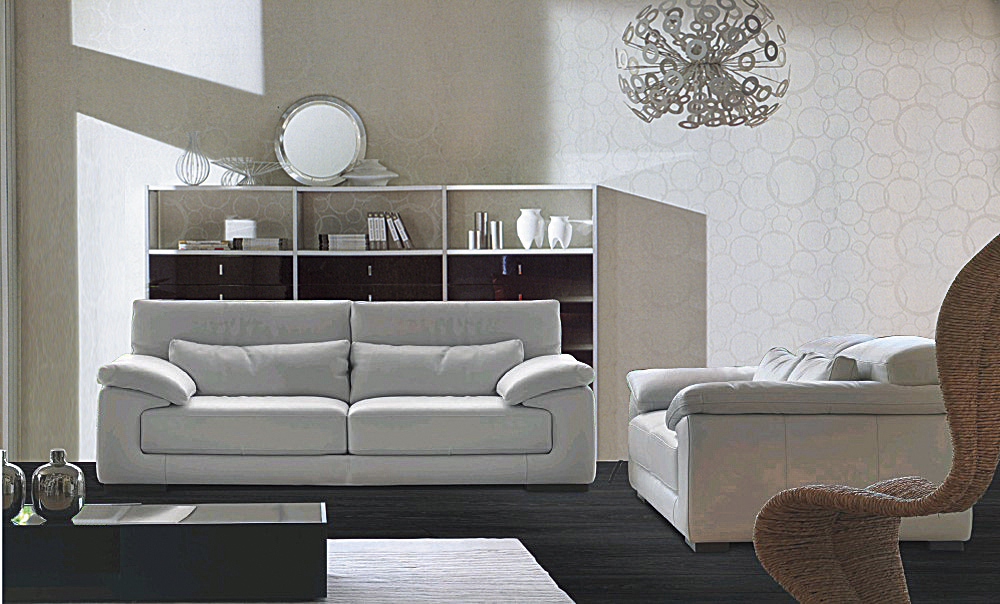 3 Piece Living Room Sofa Set: Genuine Leather Sofa Set, Modern Sofa Set Living Room Sofa