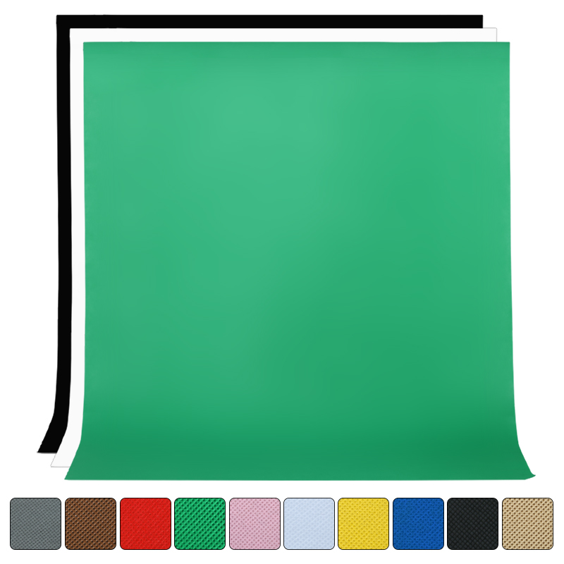 1.6Mx2M/3M/4M Photography Studio Simple Background Non-woven Solid Color Greenscreen Chromakey Backdrop Cloth
