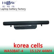 Genuine original 15.12V 44Wh WA50BAT-4 laptop battery for Clevo 6-87-WA50S-42L 6-87-WA50S 6-87-WA5RS bateria akku цены