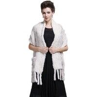 Mink Fur Scarf for Women Luxury Brand New Elegant Knitting Genuine Fur Shawls&Scarves Real Fur Scarves Female Winter