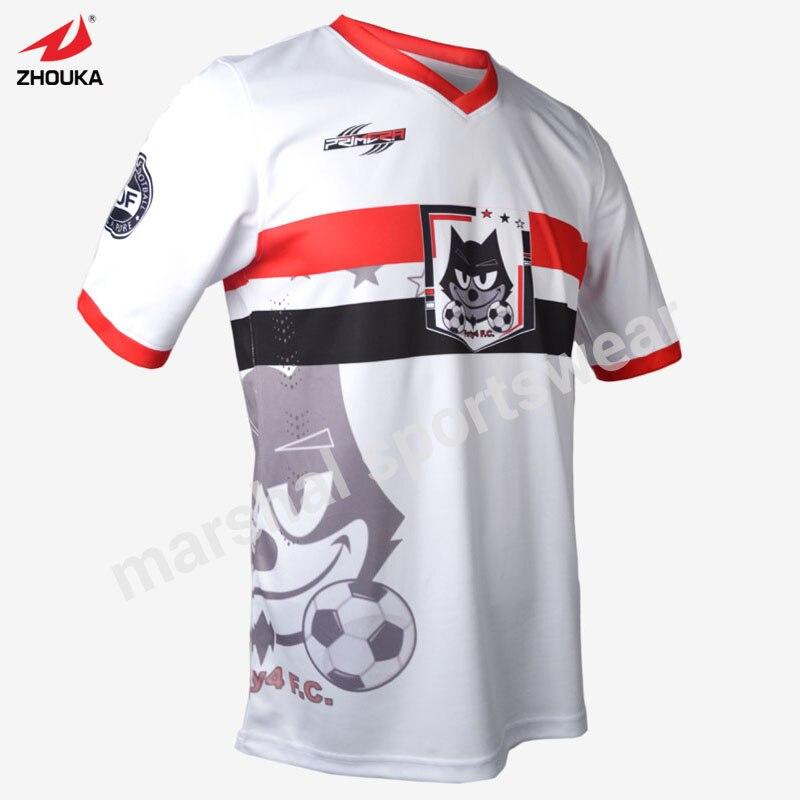Fútbol blanco Jersey barato personalizadas fútbol Jersey bordado en ...