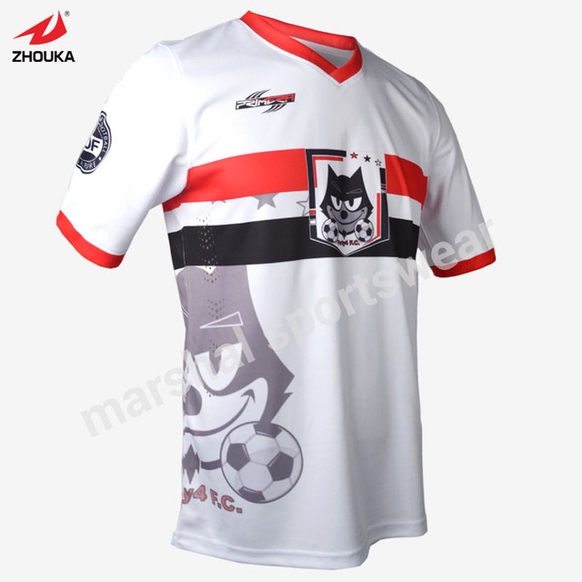 e2978503f White soccer jersey custom football shirts football jersey embroidery Free  Shipping Full Sublimation Team Jerseys New Styl