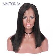 Brazilian Hair Lace Front Human Hair Wigs For Black Women Blunt Bob Natural Color 150% Density Brazilian Remy Hair Wigs