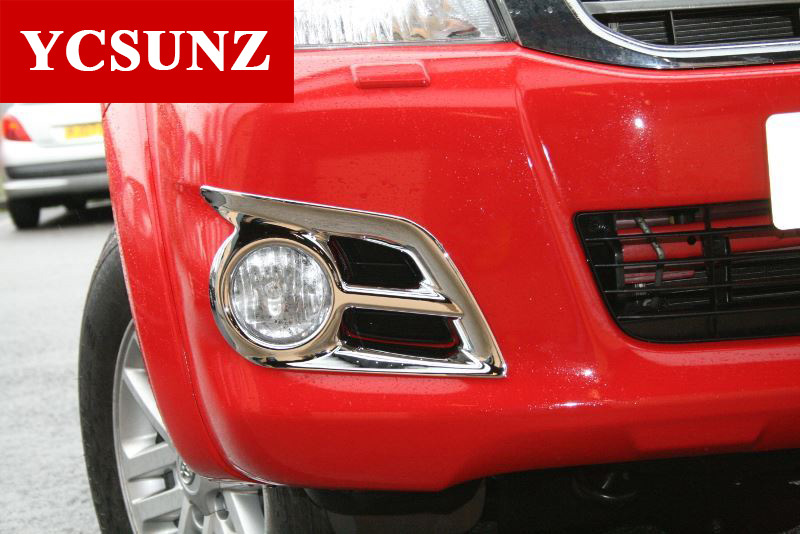 Krom Aksesuarları ABS Sis Işık Kapak Toyota Hilux Vigo 2012 2013 - Araba Parçaları - Fotoğraf 4