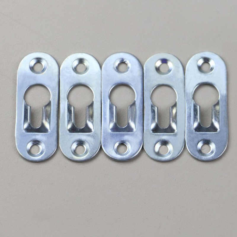 New Hot 20 Pcs/Set Keyhole Hangers Iron Hanging Plate Hardware for Mirror Oil Painting Picture Frames