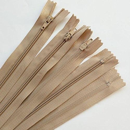 10 шт. коричневый цвет 3 #15/20/25/30/40 см закрытым нейлон катушки Застёжки-молнии портной Вышивание Craft