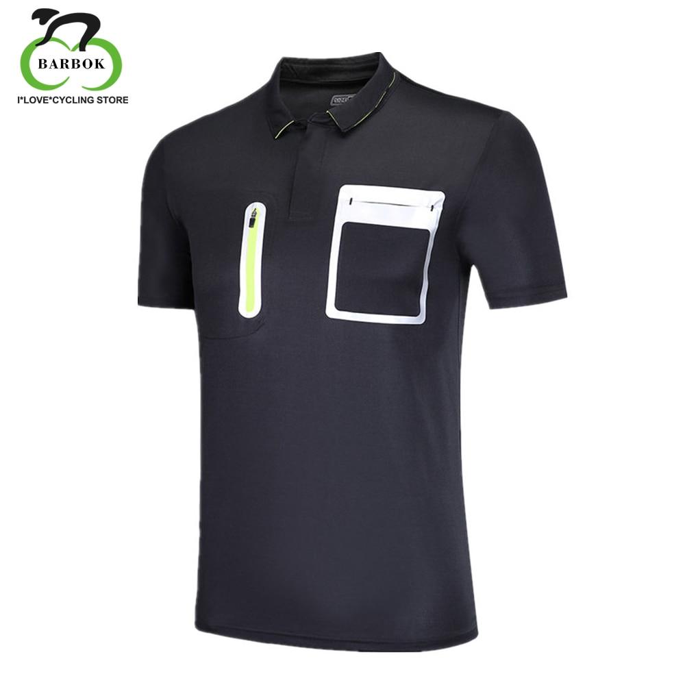 74115b04 BARBOK Breathable Men T-shirt Side Zipper Pocket Polo Shirt Summer Short  Sleeve sportswear with Referee's Card Pocket