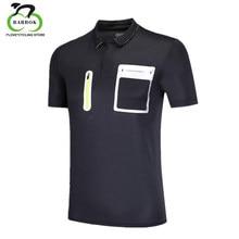 7e9c4b7a1d BARBOK Respirável Homens Camisa Pólo Verão de Manga Curta sportswear T-shirt  Bolso Com Zíper