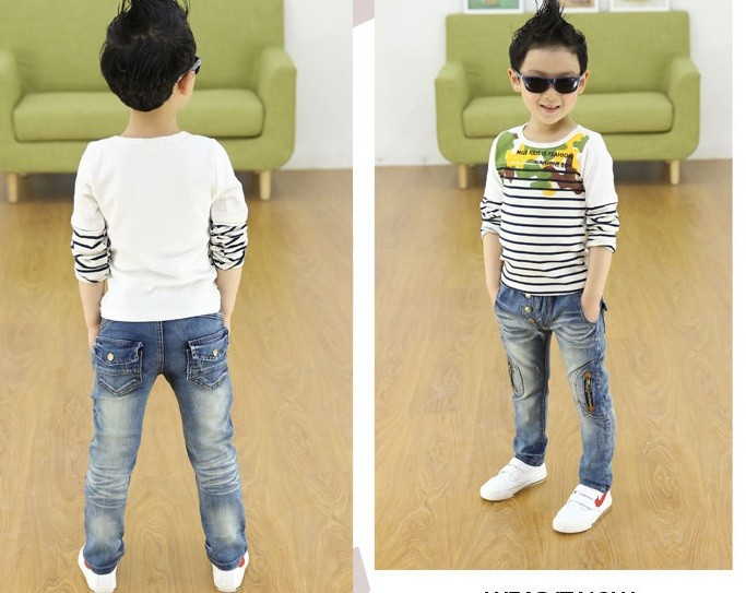 Kids-clothing-2016-Spring-and-Autumn-new-boys-wild-jeans-children-pants (2)