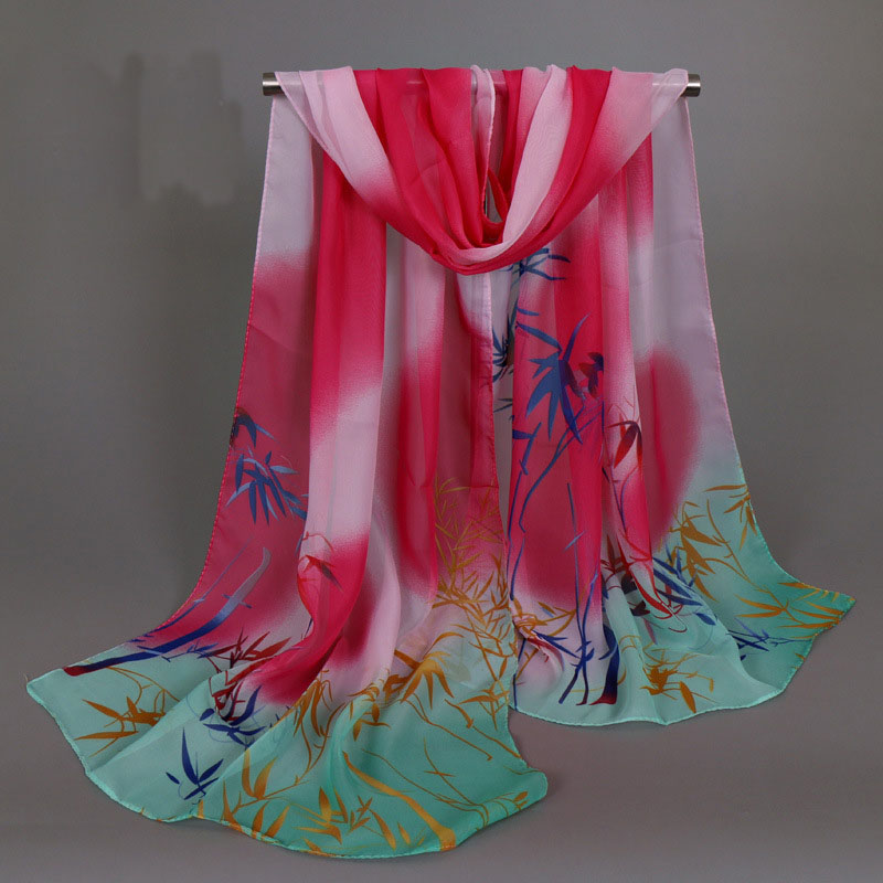 Luxury Brand Women Chiffon Silk   Scarf   Fashion Lady Girls Beach   Scarves   Popular Female   Scarves     Wrap   Shawl Lic
