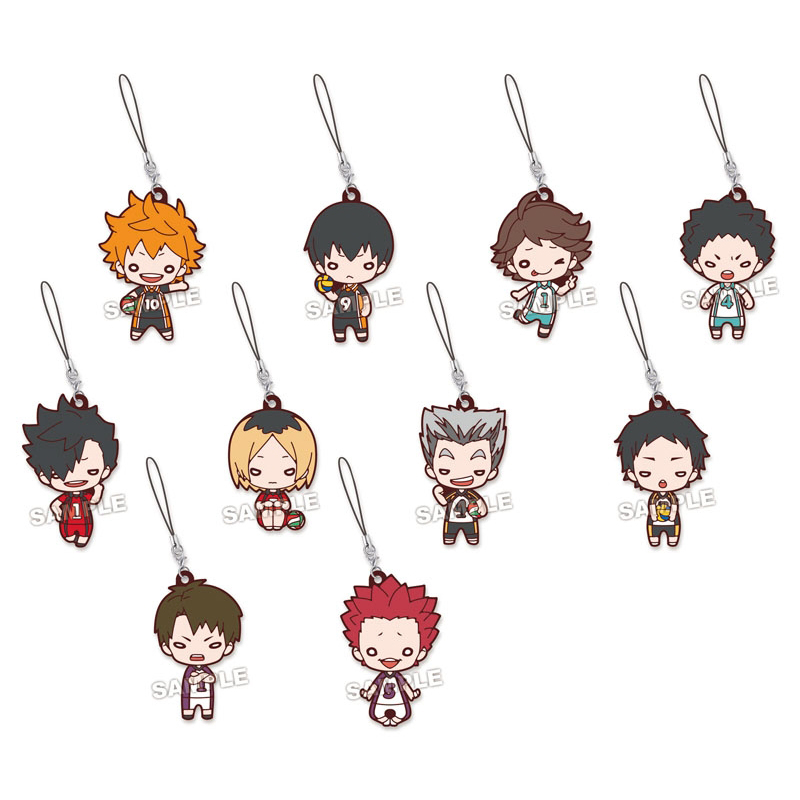 Haikyuu! Anime Hinata Kageyama Oikawa Tooru Kozume Kenma Kuroo Tetsurou Beaneye Ver Rubber Keychain haikyuu nekoma high school summer uniform kozume kenma kuroo tetsurou cosplay halloween costumes