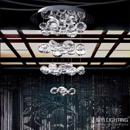 D50CM*H200CM Ether Murano Due Bubble Glass Chandelier by Patrick Jouin from Leucos LED Lighting Fixture