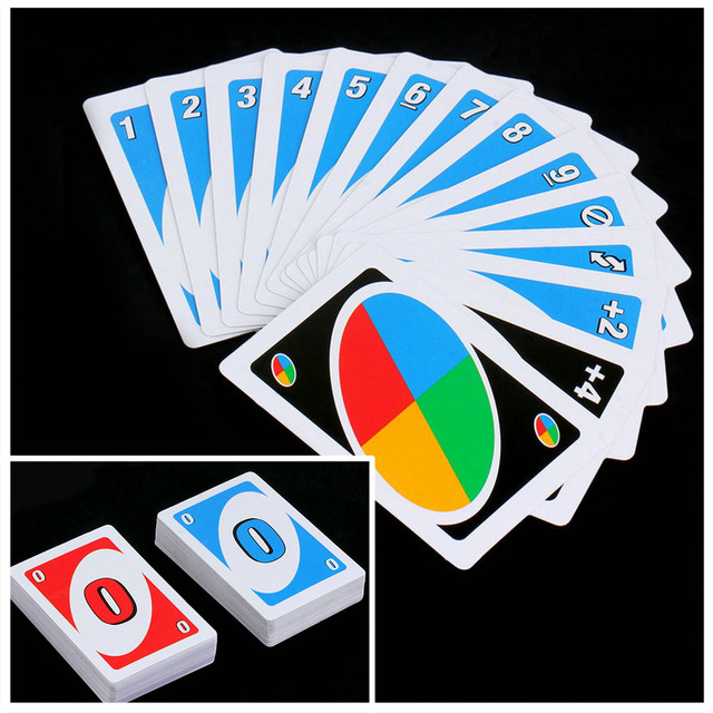 Family Funny Entertainment Board Game UNO Fun Poker Playing Cards Puzzle Games Brand New