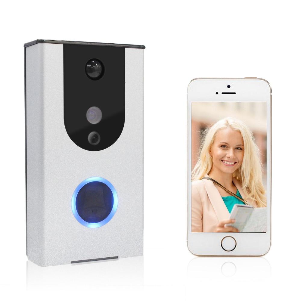 WiFi Doorbell Smart door intercom 720P HD Video Doorbell with Camera Night Version IR Motion Detection Alarm for IOS / Android smart door intercom 720p hd video doorbell wifi doorbell night version ir motion detection alarm for ios android