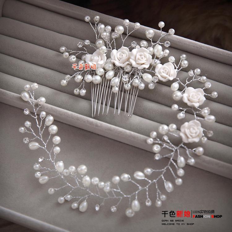 HTB16atdLXXXXXamXFXXq6xXFXXXr Gorgeous Berry And Rose Flower Wedding Prom Party Hair Jewelry For Women
