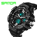 2016 Luxury Brand SANDA G LED Digital Watch Men Sport Military Waterproof Watches S Shock Quartz Analog Digital-watch Mens reloj