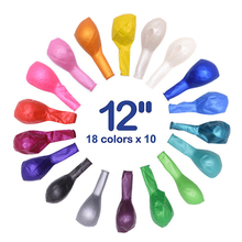 20Pcs 12inch Colorful Birthday Balloons Latex Helium Balloon Party Arch Inflatable Wedding child toy 2.8g