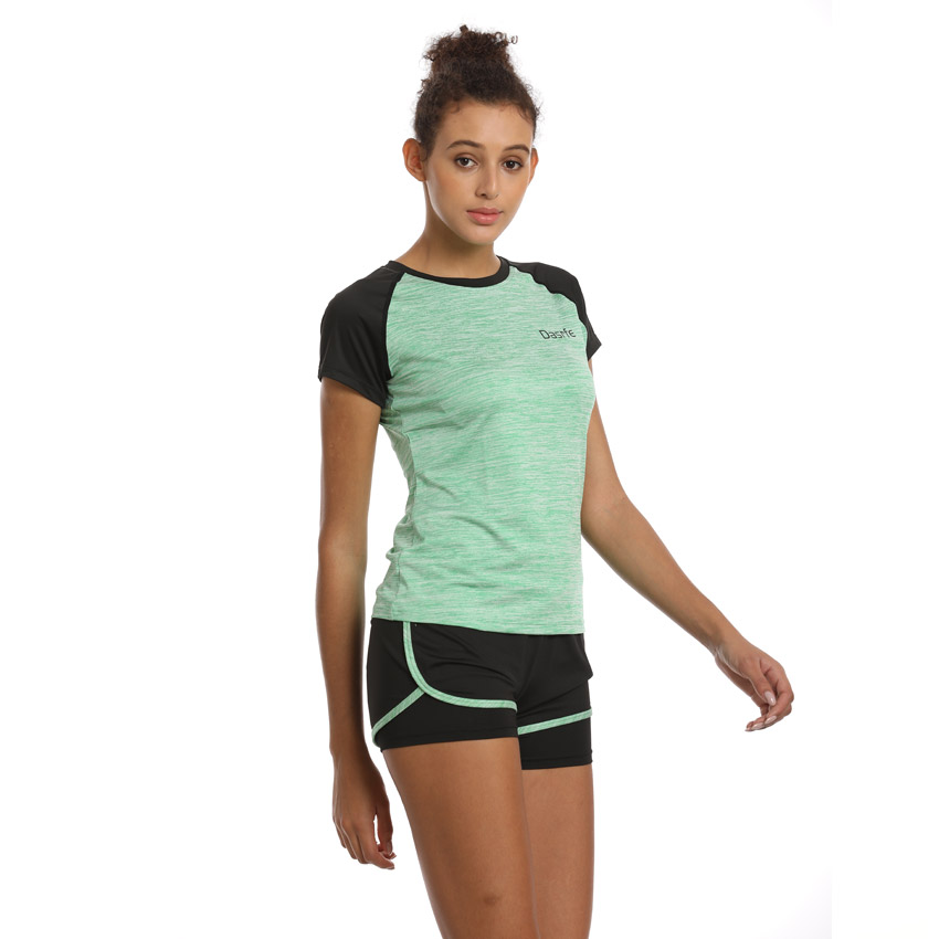 Women Yoga Set Running T-Shirt Fitness Sports Wear Gym Clothing Woman Workout Set Sports Suit Girl Outdoor Sportswear Reflective