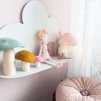Nordic Clould półka drewniana może półka ścienna dekoracja pokoju dziecięcego skandynawska drewniana chmura półka dla dzieci dekoracja przedszkola tanie i dobre opinie Nowoczesne Drewna Wiszące 50cmx30cm 43cmx22cm Nursery Kids Room Decor