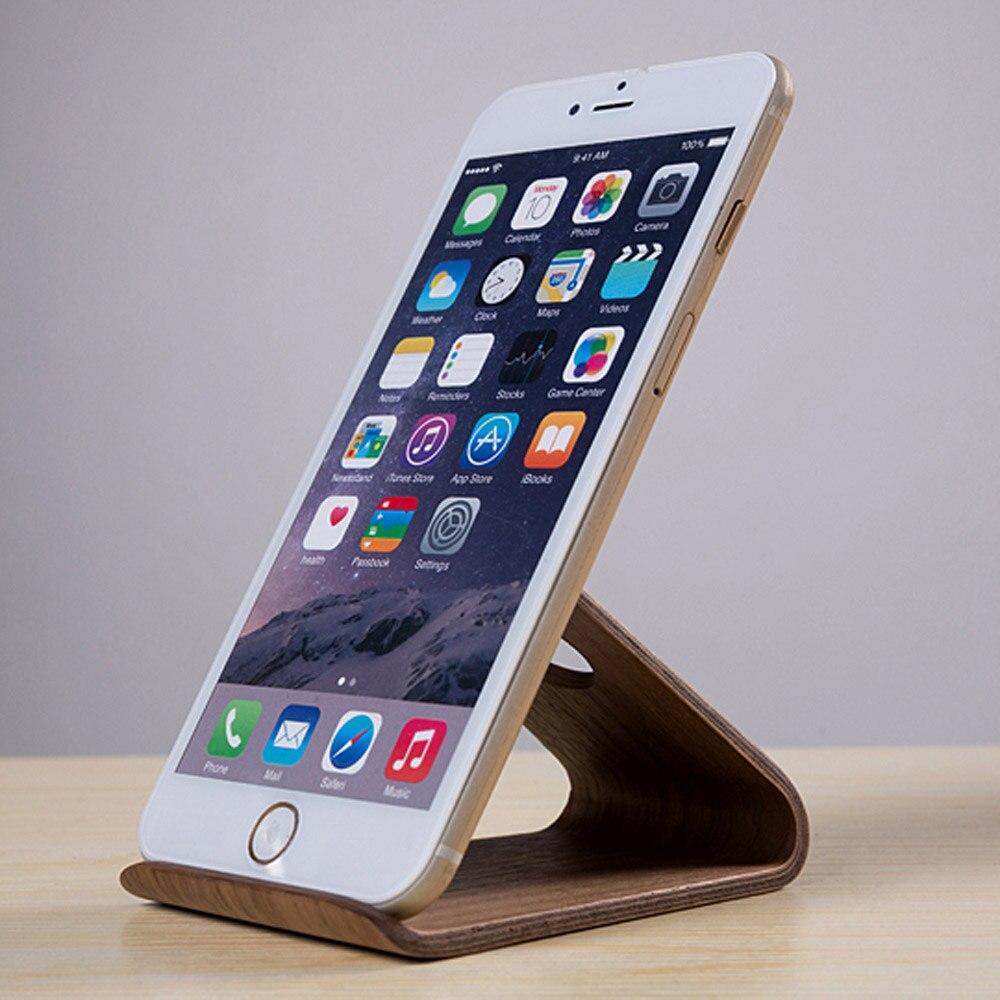 Phone Stand Designs : מוצר birch walnut lightweight slim design wooden mobile