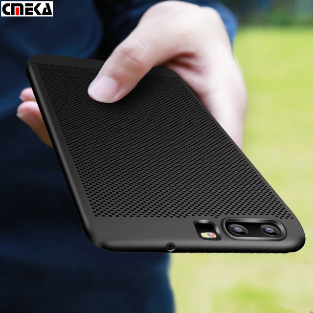 pretty nice d5758 acc45 US $3.99 |For HUAWEI P10 Plus P9 Heat Dissipation Mesh PC Hard Case Cover  For Huawei nova P8 lite 2017-in Half-wrapped Case from Cellphones & ...