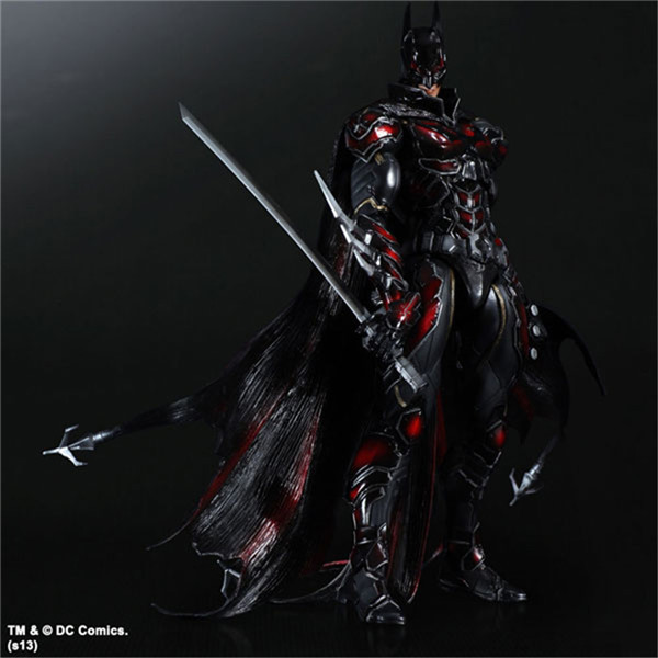 Batman Play Arts Kai Action Figure Red Version PVC Toys 270mm Anime Movie Model Special Red Bat Man Playarts Kai halo 5 guardians play arts reform master chief action figure