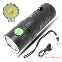 Hot Ultra Krachtige Zaklamp USB Oplaadbare Zaklamp LED XHP70 Zaklamp Batterij 18650 3 Mode Flash Light voor Camping Jacht flash light flashlight usbrechargeable torch -