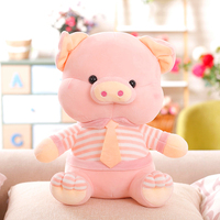 large 38cm cartoon pink pig plush toy soft doll throw pillow Christmas gift s2531