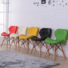 Outdoor folding chair Wooden outdoor office folding chair Modern simple folding chair Living room dining room Leisure chair D20
