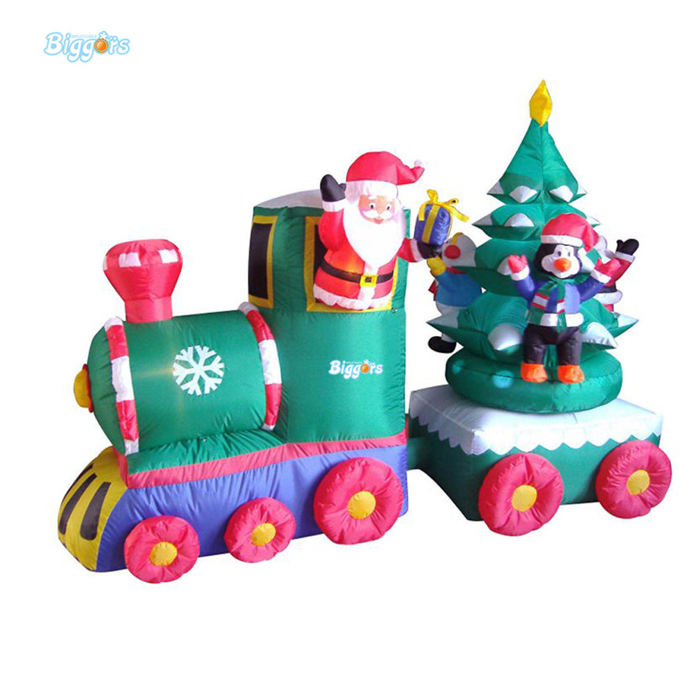 Airtight Inflatable Products Combo Santa Claus Christmas Tree And Tree Decoration Kids Toys inflatable cartoon customized advertising giant christmas inflatable santa claus for christmas outdoor decoration