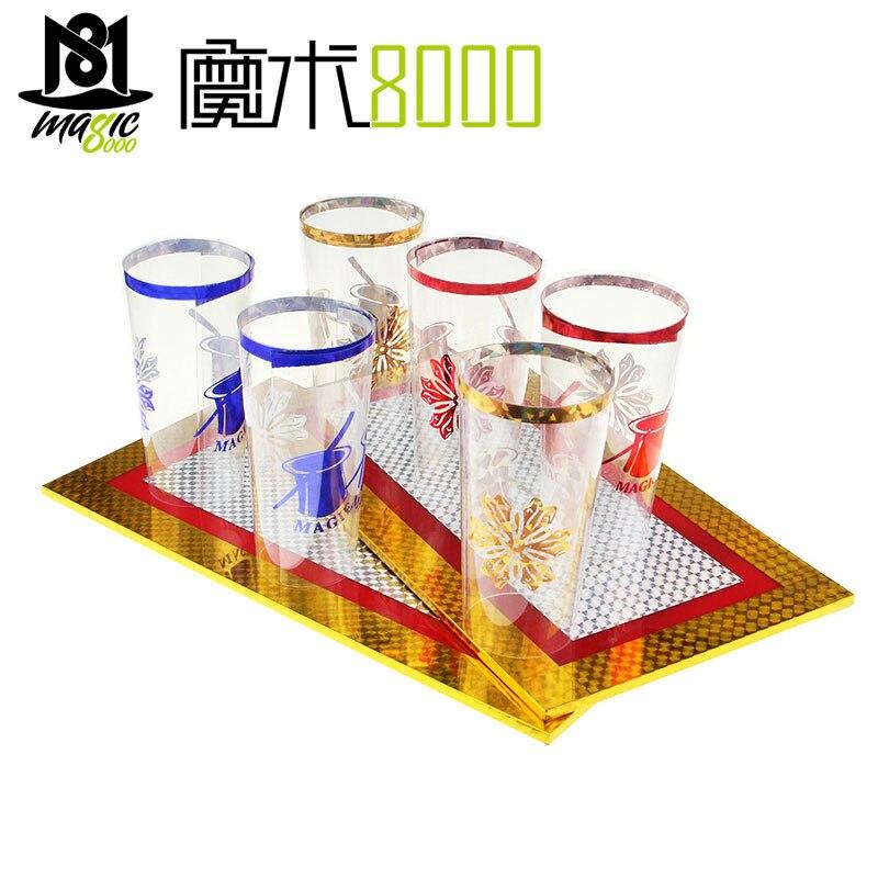 Six tasses à partir de deux assiettes magique tour tasses apparaissant scène accessoires magiques conseil Illusions Gimmick accessoire drôle