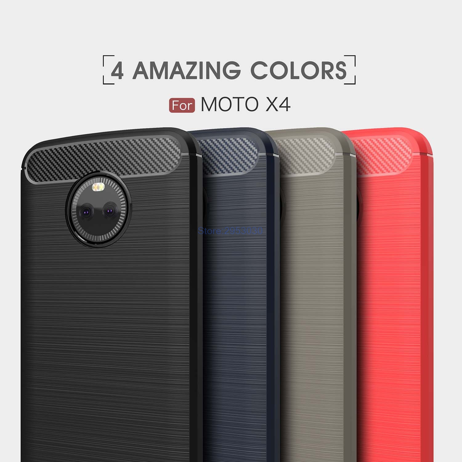 TPU Case for <font><b>Motorola</b></font> <font><b>Moto</b></font> X4 <font><b>XT1900</b></font> <font><b>XT1900</b></font>-5 <font><b>XT1900</b></font>-7 Soft Silicone Carbon Fibe Case Mobile Phone Cover for <font><b>Moto</b></font> X Gen 4 Cover image