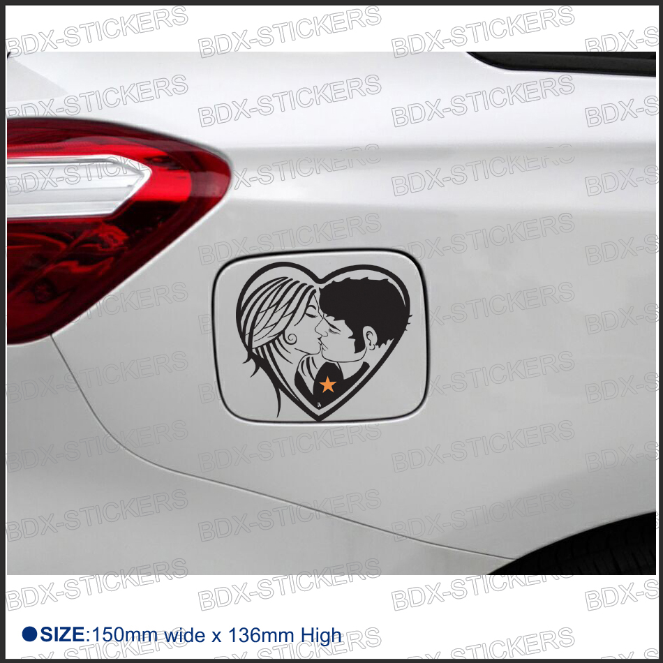 Online Get Cheap Kissing Couple Decal Aliexpresscom Alibaba Group - Couple custom vinyl decals for car