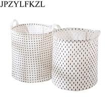 1pc Foldable Large Dirty Clothes Basket Waterproof Linen Storage Laundry Toys Debris Barrels