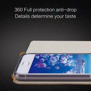 Image 5 - wangcangli leather calfskin litchi texture For Xiaomi Mi Note 2 flip phone case all handmade custom