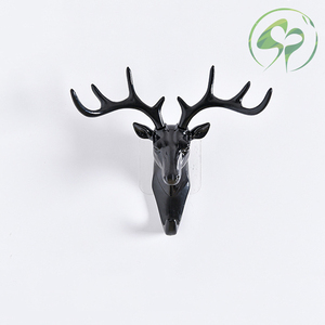Image 5 - Wand Haken Schlüssel Rack Deer Tier Kopf Geweih Home Hängende Kleidung Hut Schal Haken Hause Wohnzimmer Dekor