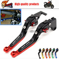 For YAMAHA MT 09 MT-09 Tracer 2014-2015 Motorcycle Adjustable Folding Extendable Brake Clutch Levers LOGO MT-09 Black+Red