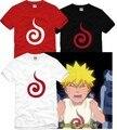 2016 verano nuevo Naruto sello del logotipo de Los Hombres corto manga del o-cuello de algodón sueltos camisetas hombre camisetas hombre vestido