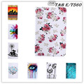 Fashion Cartoon flower tree abstract painting PU Leather Stand Case Cover For Samsung Galaxy Tab E 9.6 T560 SM T561+1pcs film