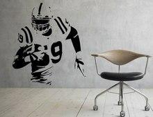 American Football Soccer Player Wall Vinyl Decal Sport Super Bowl Sticker Interior Art Murals Home Waterproof Decor C422